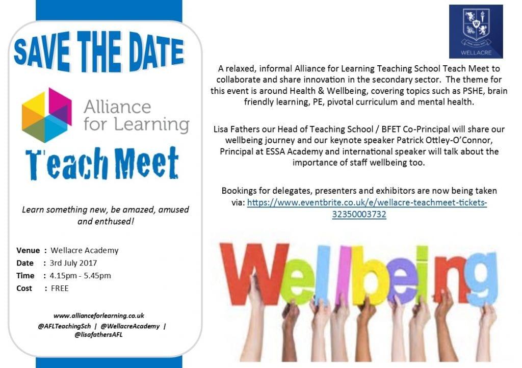 Save the Date - Wellacre Teachmeet 2017